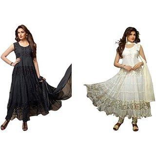 Yourstyle Brasso, Net Solid Semi-stitched Salwar Suit Dupatta Material