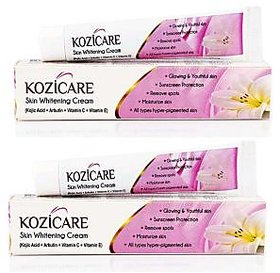 Kozicare Skin Whitening Fairness Cream 15g- Anti Pigmentation - With Sunscreen (No of units 2)