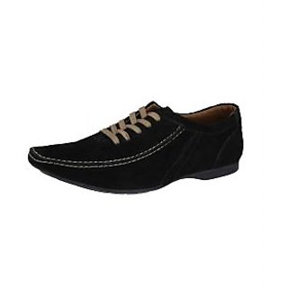 Lues Alberto Men's Black Casual Shoes