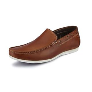 Look Style Men's Brown Stylish Loafers