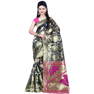 Indi Wardrobe Handloom Stylish Party Wear Fancy Wowen Classy Banarasi Silk Saree