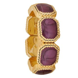 Maayra Fabulous Purple Gold Contemporary Reunion Adjustable Bracelet