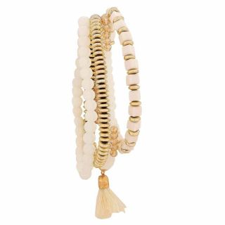 Maayra Cool Gold White Trending College Adjustable Bracelet