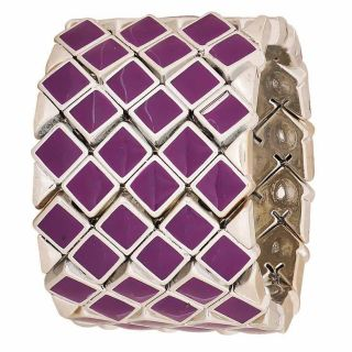 Maayra Charming Purple Silver Latest Cocktail Adjustable Bracelet