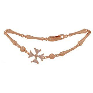 Maayra Amazing Bronze Stone Crystals College Adjustable Bracelet
