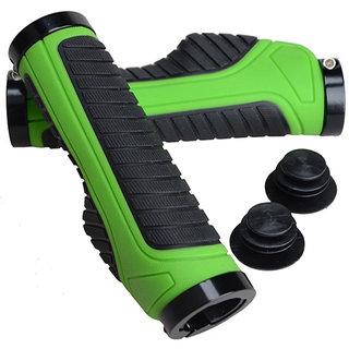 Capeshoppers  Moxi Green Handle Grip For Bajaj BOXER