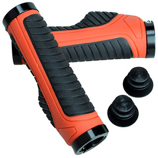 Capeshoppers Moxi Red Handle Grip For TVS Victor GX 100