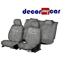 DecorMyCar Grey Cotton Car Seat Cover For Tata Vista