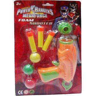 Impulse Power Rangers Megaforce Foam Shooter (Orange, Yellow)
