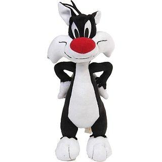 Warner Bros Plush - Sylvester - 13 Inch (White, Black, Red)