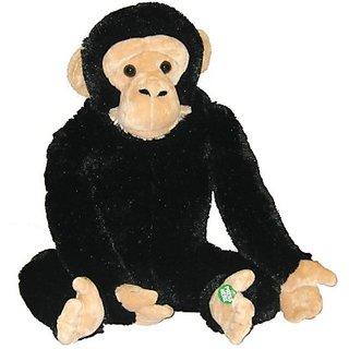 Animal Planet Plush With Sound Chimpanzee - 10 Inch (Black, Beige)