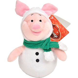 Disney Piglet In XMas Snowman Outfit - 8 Inch (Green, Pink)