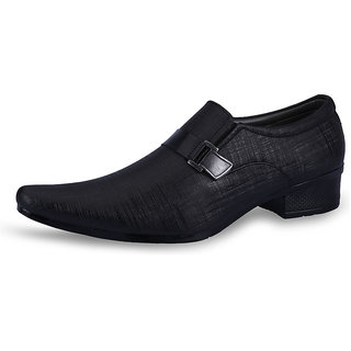 Shadows Men's Black Casual Shoes