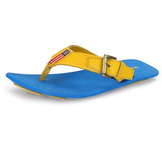 Sharon Men's Blue & Yellow Stylish Sandals