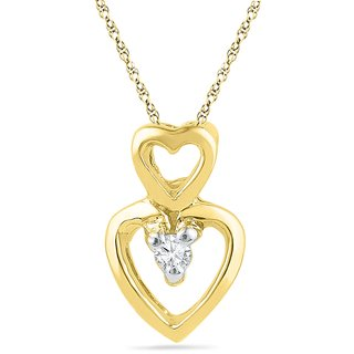 Ishis 18 Kt Beautiful Yellow Gold Diamond Fashion Pendants (0.02 CT)