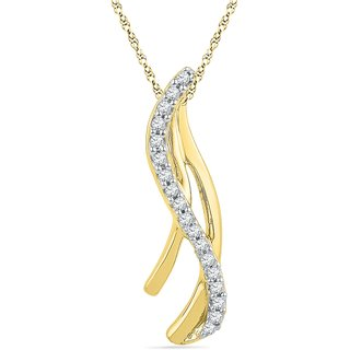Ishis 18 Kt Classic Yellow Gold Diamond Fashion Pendants (0.10 CT) - Design 2