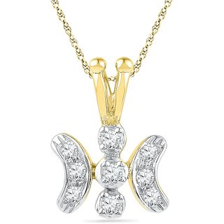 Ishis 18 Kt Regional Yellow Gold Diamond Fashion Pendants (0.15 CT)