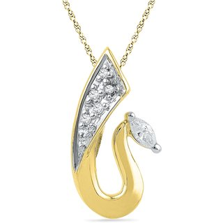 Ishis 18 Kt Designer Yellow Gold Diamond Fashion Pendants (0.10 CT) - Design 1