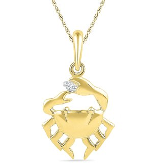 Ishis 18 Kt Fabulous Yellow Gold Diamond Fashion Pendants (0.01 CT) - Design 1