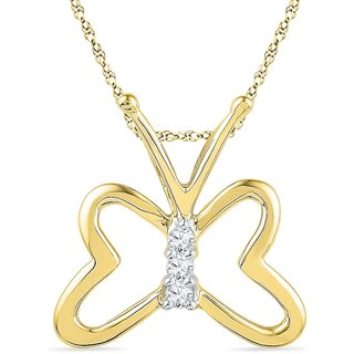 Ishis 18 Kt Ethnic Yellow Gold Diamond Fashion Pendants (0.05 CT)