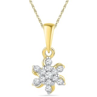 Ishis 18 Kt Marvelous Yellow Gold Diamond Fashion Pendants (0.15 CT)