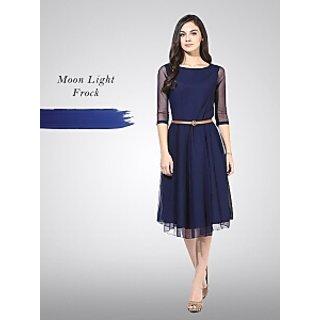 Moon Light Blue frock - for trending women