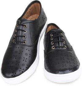 Do Bhai Women's Black Smart Casuals Shoes