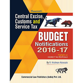 Central Excise Customs  Service Tax Budget Notifications