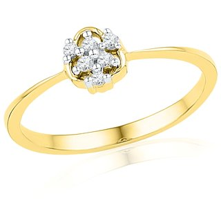 Ishis 18 Kt Authentic Yellow Gold Diamond Fashion Ring (0.06 CT)