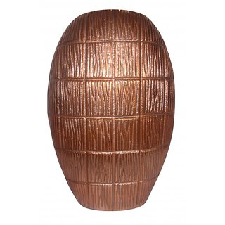 ArtnCrafts Aluminium Flower Vase 8804 (Copper, Pack of 1)
