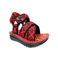 Super Divine Collections - PU GLK Kids Sandals - Red Black
