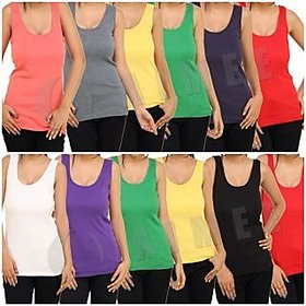 Pack of 6 Middi Slips Camisole Spaghetti tank top Vest