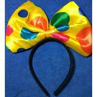 Yellow Bow Party Headband / Hairband For Kids - Birthda