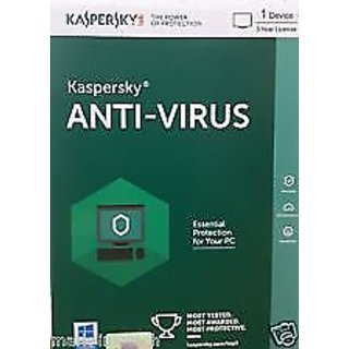 Kaspersky Antivirus 2016 1 PC For 3 Year Software