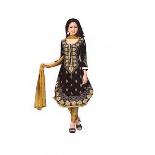 Women Shoppee Synthetic Printed Salwar Kameez Material
