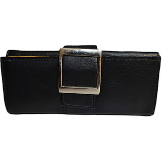 Suave Buckle Handpurse in Ebony Black(HW-BUCKLE-BLK)
