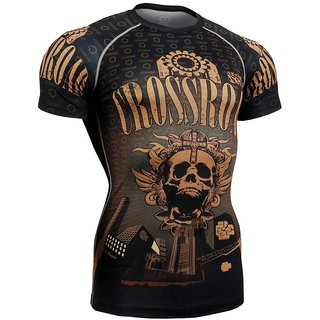 vighes men gym fashion printed tshirt black and brown colour