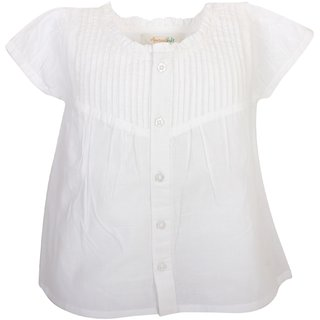 Apricot Kids White Top For Baby Girls