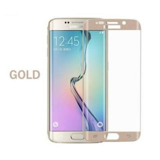 Samsung galaxy S6 edge golden tempered glass full curve