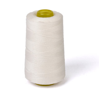 Spool of Cotton Sewing Thread for Sewing Machine 40S/2 Unbleached White