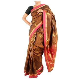 Tavara womens Silk Plain/Solid Sarees
