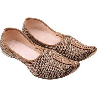 Skylyf Brown Jute In Brown Shadow Ethnic Mojari Mozari Jutti Juti Jooti Footwear