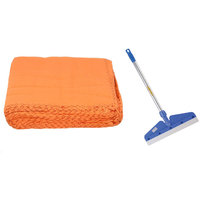 Steel Rod Wiper With Big Orange Duster Colour May Vary