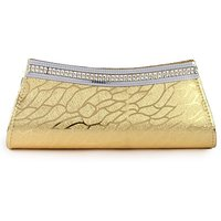 Kleio Fabric Gold Women Clutch