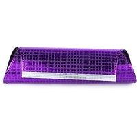 Kleio Fabric Purple Women Clutch