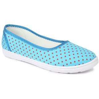 Liberty Women's Sky Blue Smart Casuals Shoes