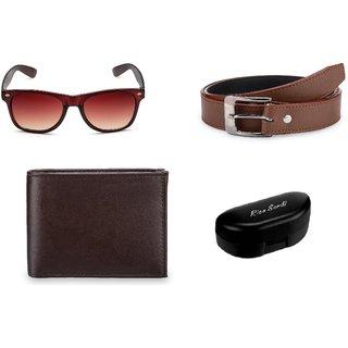 Rico Sordi Brown Sunglass + Belt + Wallet (Set of 3) RSSGWB007Brown