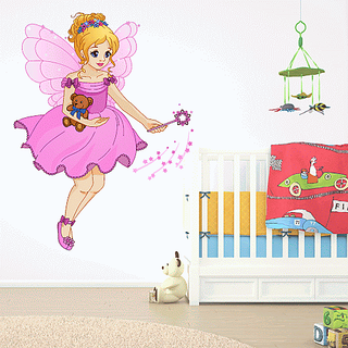 DeStudio Fairytale Multi Color Wall Stickers (Wall Covering Area  85cm X 110cm)