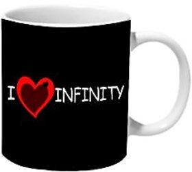 Mooch Wale I Love Infinity Ceramic Mug