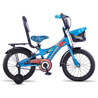 Hero Disney 16T Cars Junior Cycle With Carrier - Blue